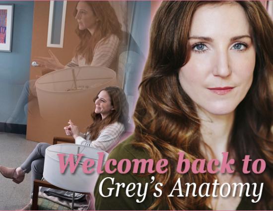 Welcome back to Grey's Anatomy, Sarah!