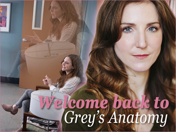 Welcome back to Grey's Anatomy, Sarah!